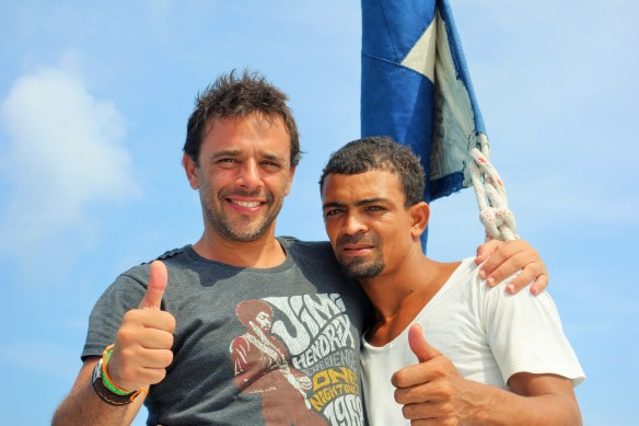 Con mi amigo Carmelo.