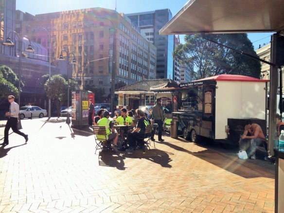 Lunch time in Wellington