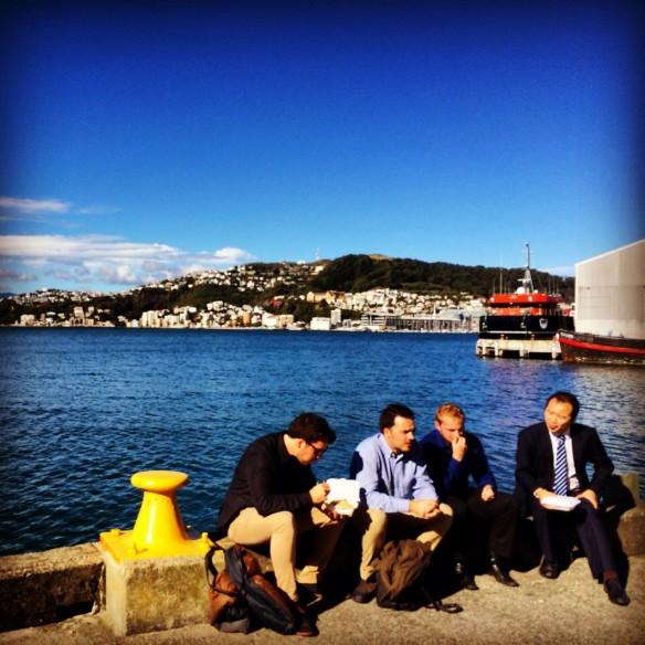 Lunch break by the sea