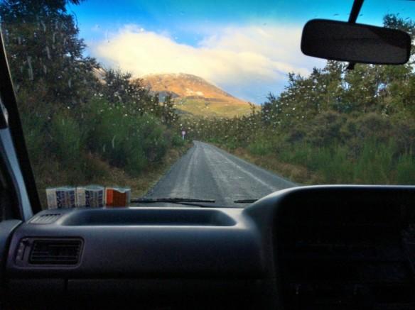 Driving to Tongariro