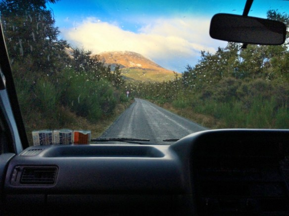 Driving to Tongariro