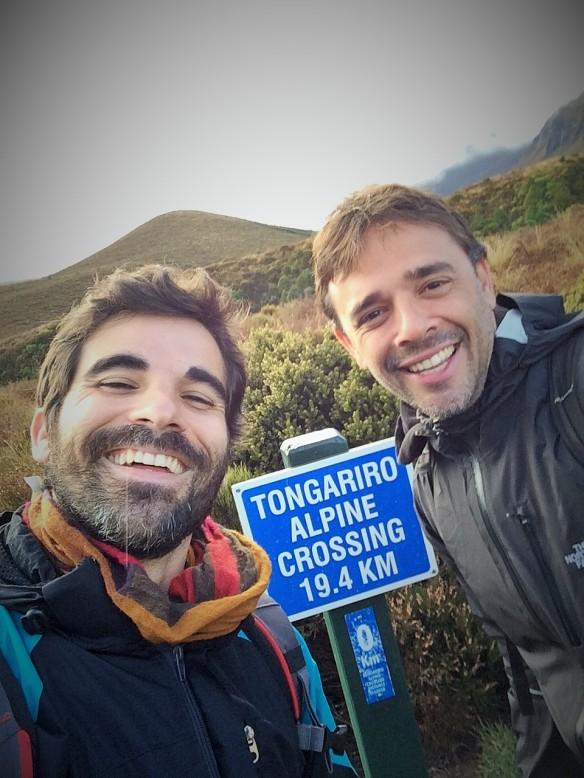 Primos felices en el Tongariro