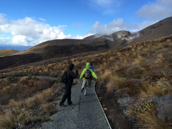 Runners at Tongariro